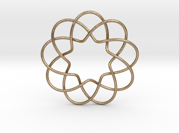 Interwoven Petal Pendant in Polished Gold Steel