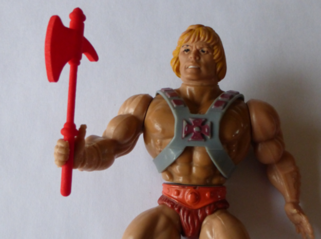 MOTU replacement ax for 1980s Castle Grayskull in Red Processed Versatile Plastic
