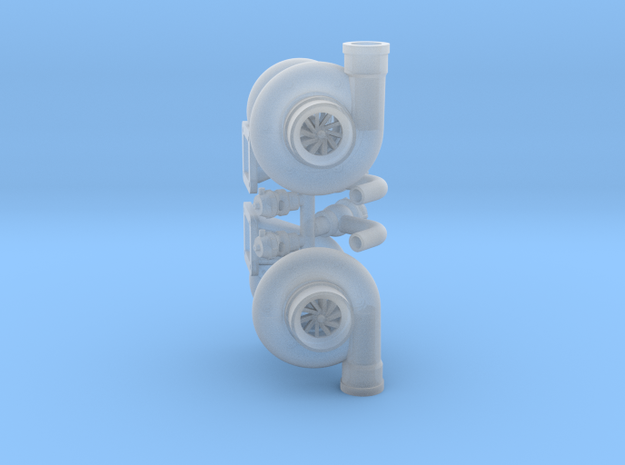 Turbo 102mm W Parts 1/18 in Smooth Fine Detail Plastic