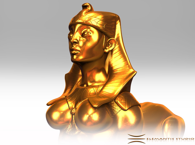 Sphinx Statue 5cm in Natural Brass