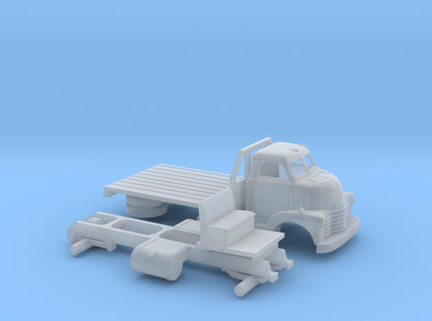 1/87 1949 Chevy COE Flatbed in Smooth Fine Detail Plastic
