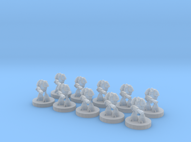 6mm Heavy Lazer Soldiers in Frosted Ultra Detail