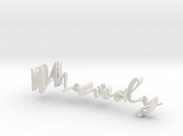 3dWordFlip: Maudy/Gijzen in White Natural Versatile Plastic