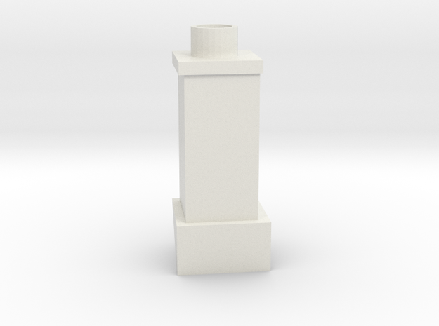 QN Short Chimney V2 in White Natural Versatile Plastic