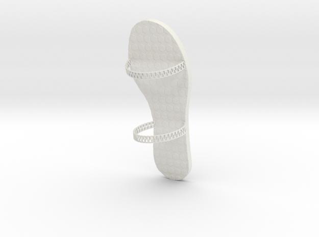 FlipFlop Design1 in White Natural Versatile Plastic