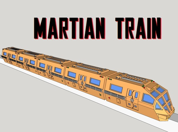 6mm Martian Train (5pcs)