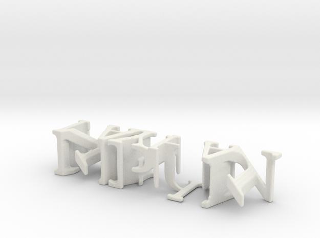 3dWordFlip: NIPUN/NAYHAL in White Natural Versatile Plastic