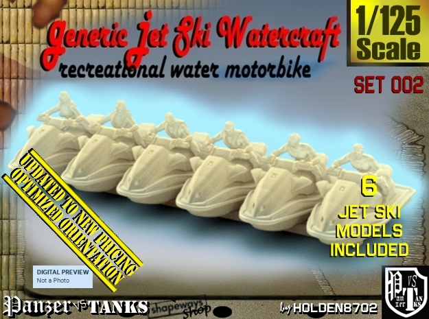 1/125 Generic Jet Ski Set002 in Frosted Ultra Detail
