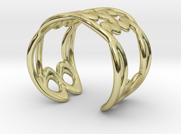 Cuff Bracelet Weave Line B-009 in 18k Gold Plated Brass