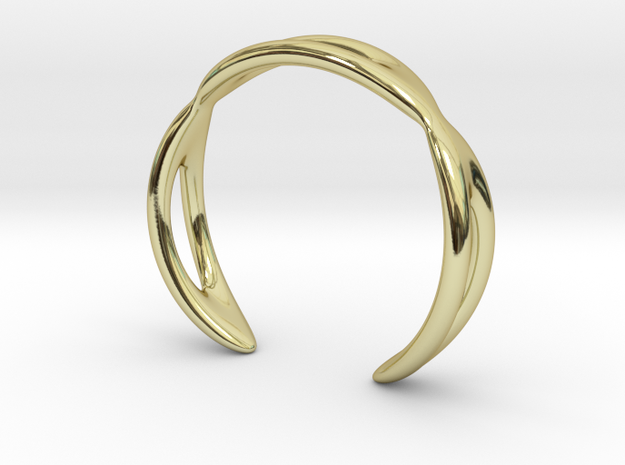 Cuff Bracelet Weave Line B-011 in 18k Gold Plated Brass