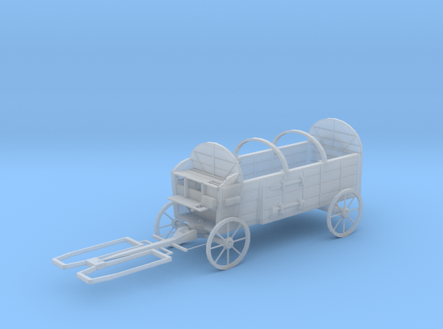 S Scale Hay Wagon  in Smooth Fine Detail Plastic