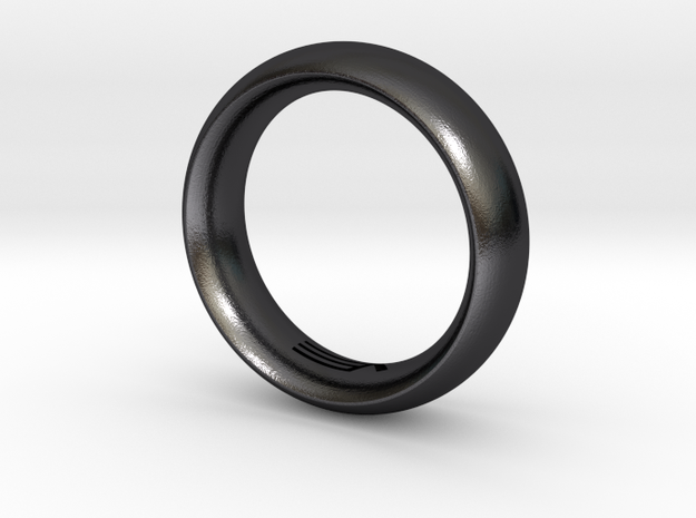 Modern+Convex in Polished and Bronzed Black Steel: 5.5 / 50.25