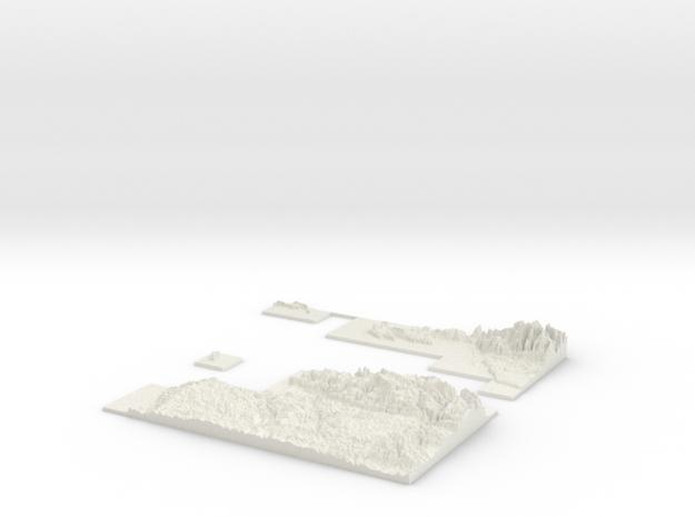 W200 S100 E300 N200 Map  in White Natural Versatile Plastic