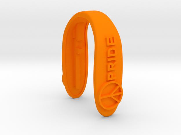 PRIDE KEY FOB  in Orange Processed Versatile Plastic