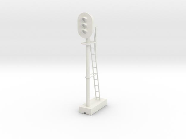 Block Signal 22.5-1 G Scale in White Natural Versatile Plastic