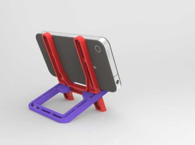 Smart Phone Docking Stand  3d printed With the Phone