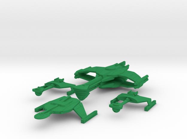 5k Romulan War Fleet in Green Processed Versatile Plastic