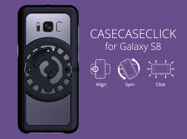 for Galaxy S8 : core : CASECASE CLICK in Black Natural Versatile Plastic