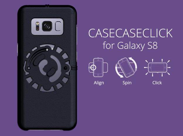 for Galaxy S8 : smooth : CASECASE CLICK in Black Natural Versatile Plastic
