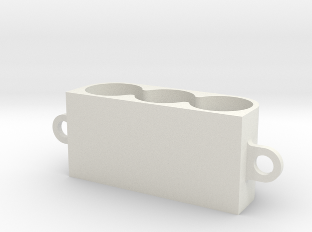 Cap Mount in White Strong & Flexible