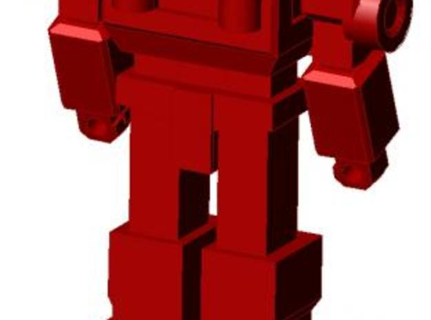 Ironhide minifigure 3d printed Completed figure, rear view