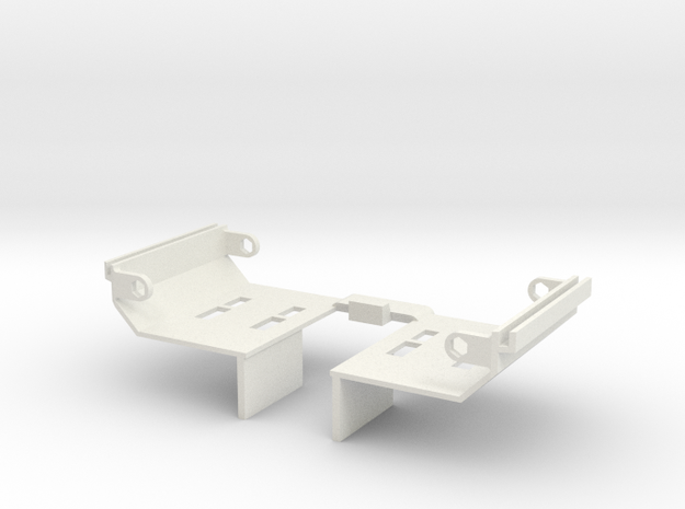 Rampage Back Acrylic Plate in White Strong & Flexible