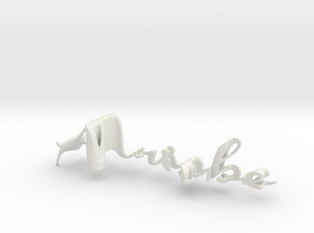 3dWordFlip: Arisbe/Hector in White Natural Versatile Plastic