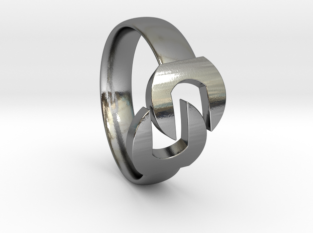 Wrench Ring  in Polished Silver