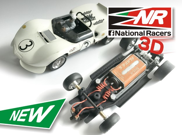 3D Chassis - MRRC Chaparral - Inline in Black Strong & Flexible