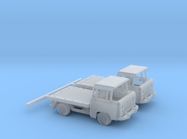 1959 FC150 Pickup Truck with a Flatbed (x2) in Frosted Ultra Detail: 1:160 - N