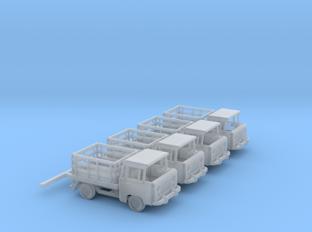 1959 FC150 Pickup Truck with Stakebed (x4) in Frosted Ultra Detail: 1:160 - N