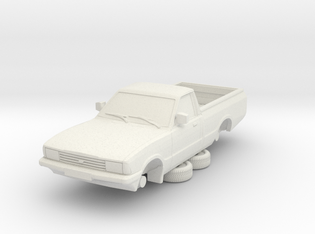 1-76 Ford Cortina Mk5 P100 Hollow (repaired) in White Natural Versatile Plastic