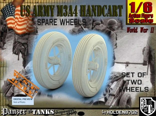 1-6 Wheels For M3A4 Handcart