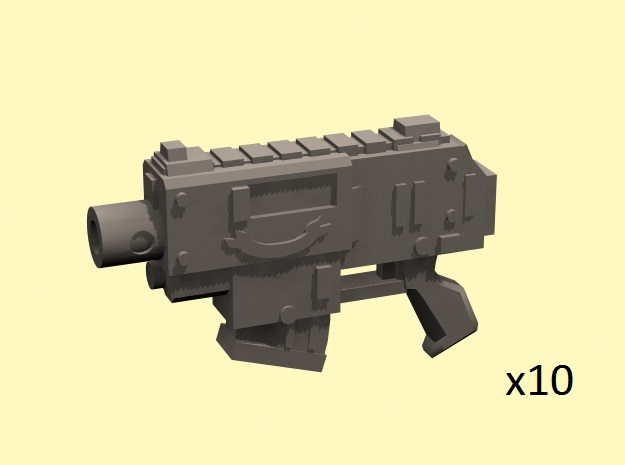 28mm SciFi Gyrojet Pistols (10)