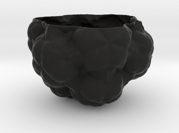 Fractal Flower Pot III in Black Natural Versatile Plastic