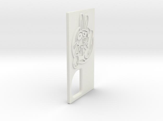 TLF# - Shabby Bunny - Door in White Natural Versatile Plastic