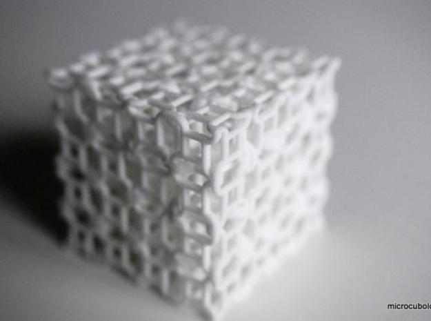 Quaturnery Qube (hollow) 3d printed Corner view