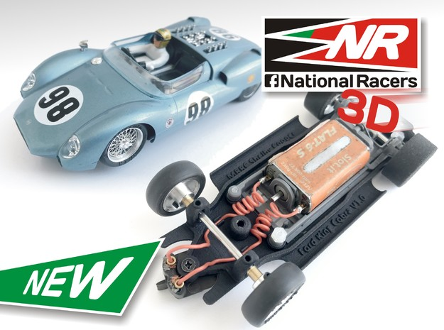3D Chassis - MRRC King Cobra - Inline in Black Strong & Flexible