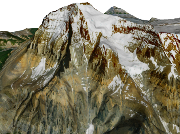 """Mount Robson Map: 6"""" in Full Color Sandstone"""