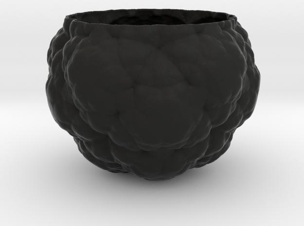 Fractal Flower Pot IV in Black Natural Versatile Plastic
