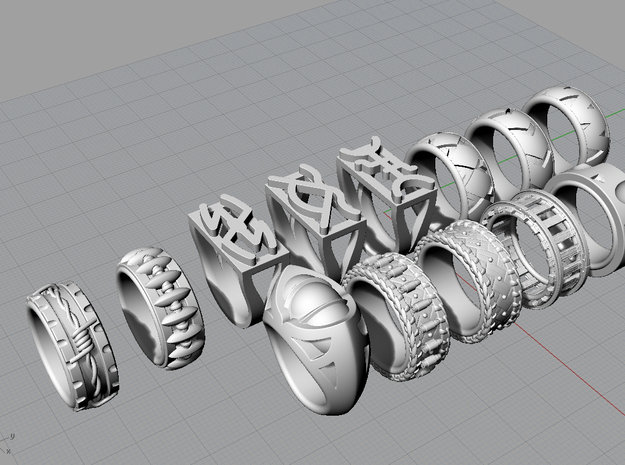 Railroad Ring - Size 9 1/2 (19.35 mm) 3d printed All rings in the Western Collection