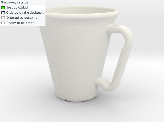 Mug in White Natural Versatile Plastic