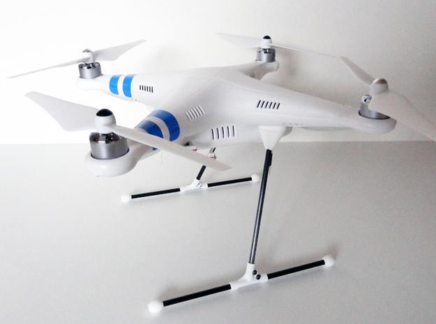 DJI Phantom Mark-1 Landing Gear in White Strong & Flexible