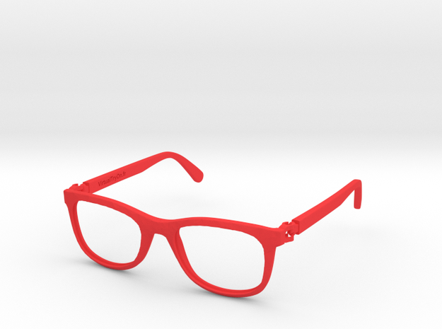 VirtualTryOn.fr Lunettes / Glasses : Low Paulie in Red Strong & Flexible Polished