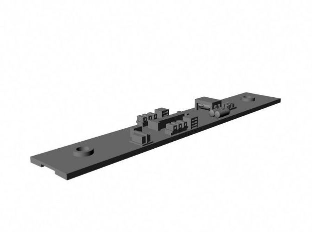 NYCTA R-10 trailer underbody N Scale in Smooth Fine Detail Plastic