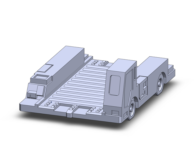 Pulsar7E Container Transport  in Smoothest Fine Detail Plastic: 1:200