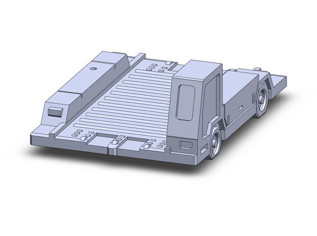 Pulsar7 Container Transport  in Smoothest Fine Detail Plastic: 1:200
