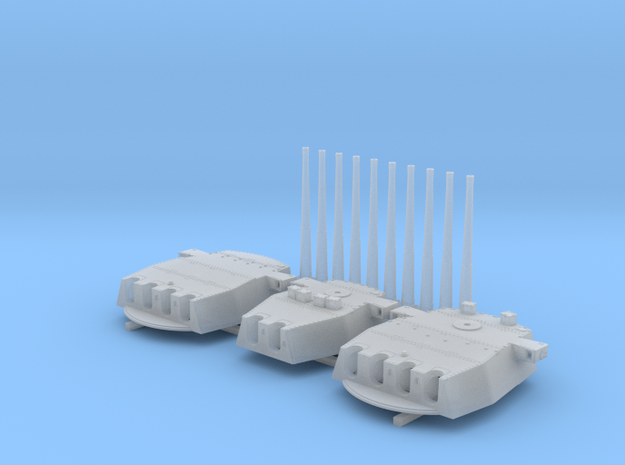 """1/600 HMS King George V 14"""" Turrets 1942 in Frosted Extreme Detail"""