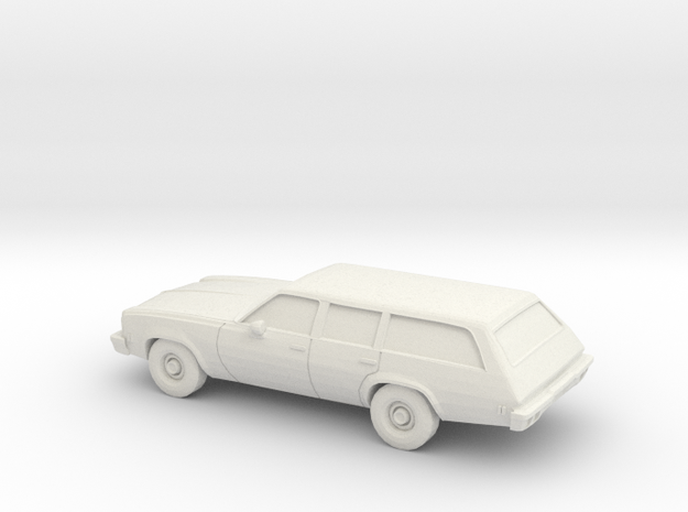 1/87 1973 Chevrolet Chevelle Station Wagon in White Natural Versatile Plastic