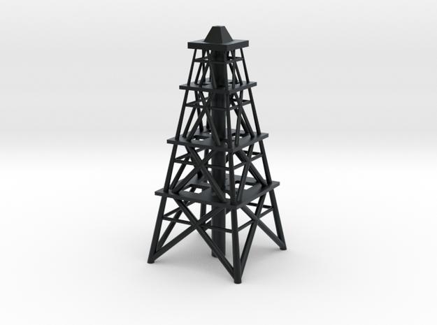 Oil Derrick in Black Hi-Def Acrylate